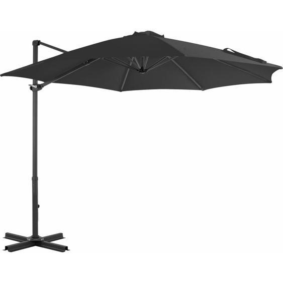 Parasol en porte-à-faux et poteau en aluminium 300cm Anthracite