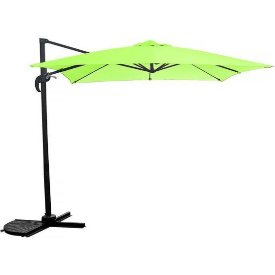 Parasol jardin déporté Soleil - 2.5 x 2.5 m - Gris - HABITAT ET JARDIN