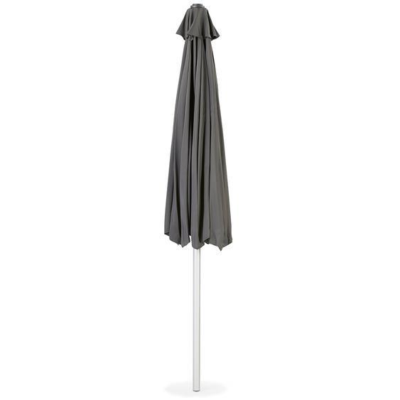 Parasol octogonal design DONY gris foncé en aluminium - Ø 300 cm