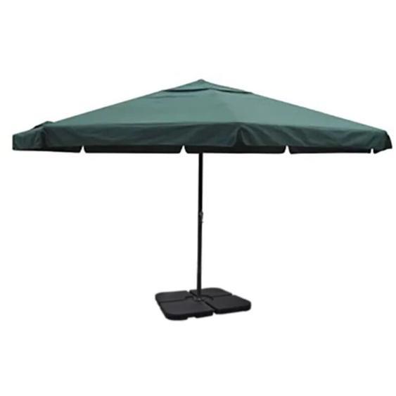 Parasol vert en aluminium avec base mobile