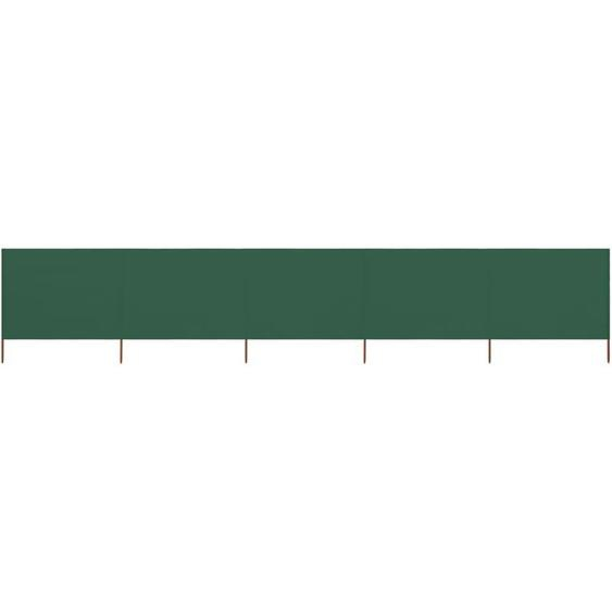 Paravent 5 panneaux Tissu 600 x 160 cm Vert