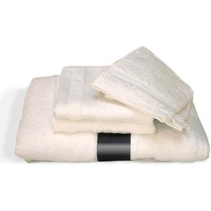 Parure de bain 5 pièces ROYAL CRESENT Blanc Crème 650 g/m2