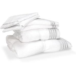 Parure de bain 6 pièces JULIET Blanc 520 g/m2
