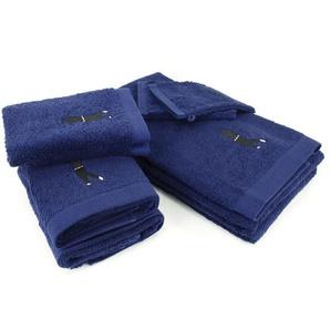 Parure de bain 8 pièces 100% coton 550 g/m2 PURE GOLF Bleu Marine