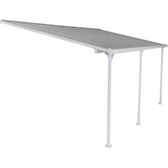 Pergola blanche aluminium Lucia - 15 m² Blanc