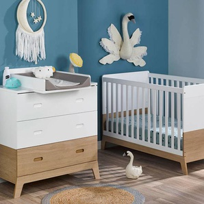 Petite chambre bébé Archipel Blanc & Chêne