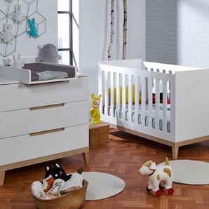 Petite chambre bébé Evidence Blanc & Hêtre