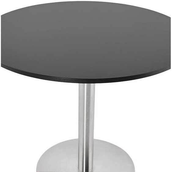 Petite table de bureau / à diner ronde DALLAS noire - Ø 90 cm