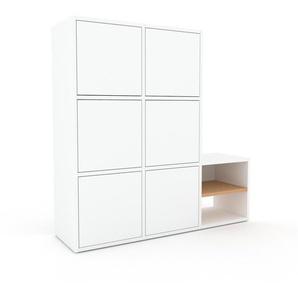 Placard - Blanc, contemporain, rangements, avec porte Blanc - 118 x 118 x 35 cm, modulable