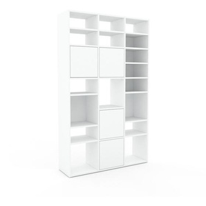 Placard - Blanc, contemporain, rangements, avec porte Blanc - 118 x 195 x 35 cm, modulable