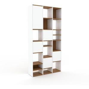 Placard - Blanc, contemporain, rangements, avec porte Blanc - 118 x 234 x 35 cm, modulable