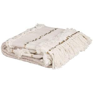 Plaid berbère en coton beige 160x210