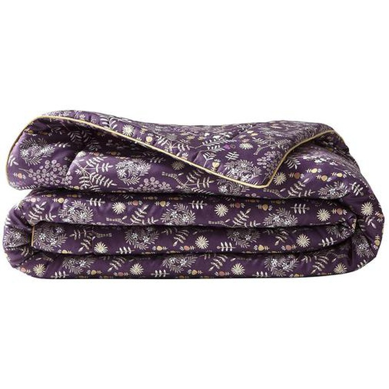 Plaid ou courtepointe COSIMA violette en satin de coton