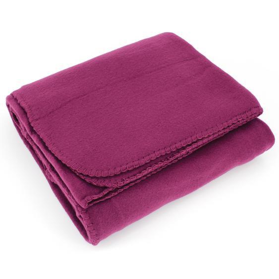 Plaid polaire Uno violet Prune 130x170 cm
