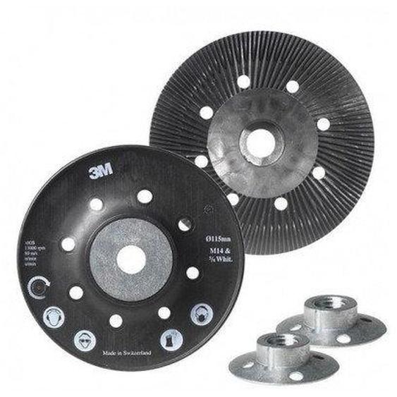 Plateau souple pour disque fibre 127mm - 3M ABRASIFS - Q09386
