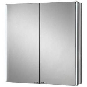 Plieger Lyndalu Armoire de toilette avec miroir 65cm avec éclairage LED Aluminium 0957800