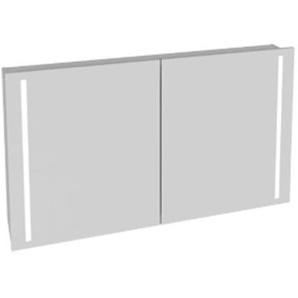 Plieger Mila Armoire de toilette avec 2 portes et éclairage LED intégré vertical 120x70x19cm avec interrupteur 0920023