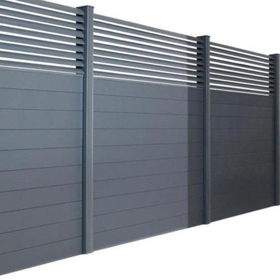 Poteau pour clôture aluminium gris 75