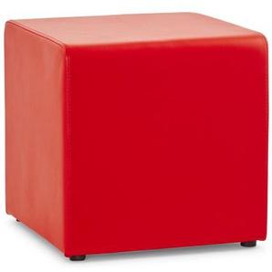 Pouf design en simili cuir - Roman - Rouge