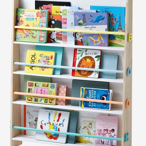 Présentoir à livres Books blanc/bois