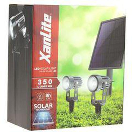 Projecteurs solaire sur piquet 350 Lm x 2