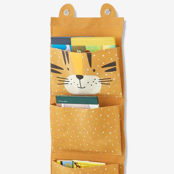 Rangement mural Tigre jaune moutarde