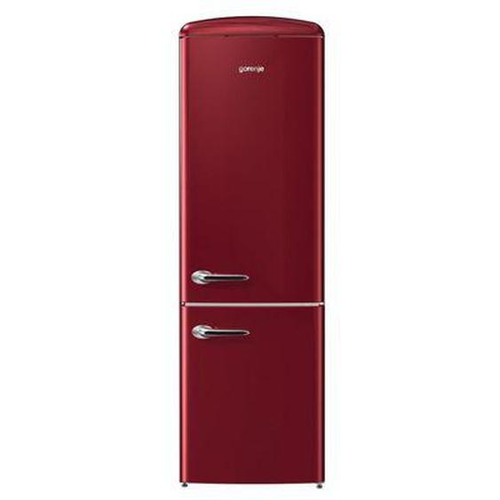 Réfrigérateur combiné GORENJE ORK192R Rouge Gorenje