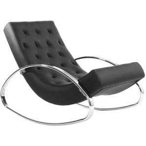 Rocking chair design noir CHESTY