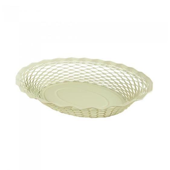 ROGER ORFEVRE - Corbeille pain Vintage ovale 25x18 cm blanc vanille