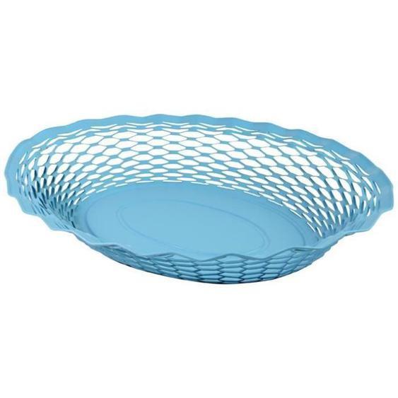 ROGER ORFEVRE - Corbeille pain Vintage ovale bleu 30x24 cm
