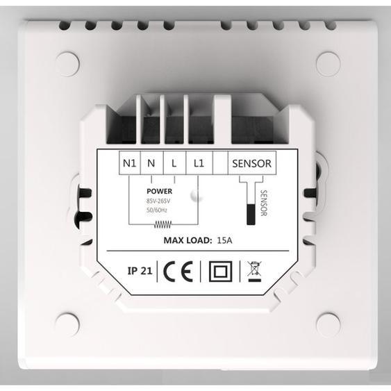 Royal plaza Atlas thermostat avec wifi blanc mat