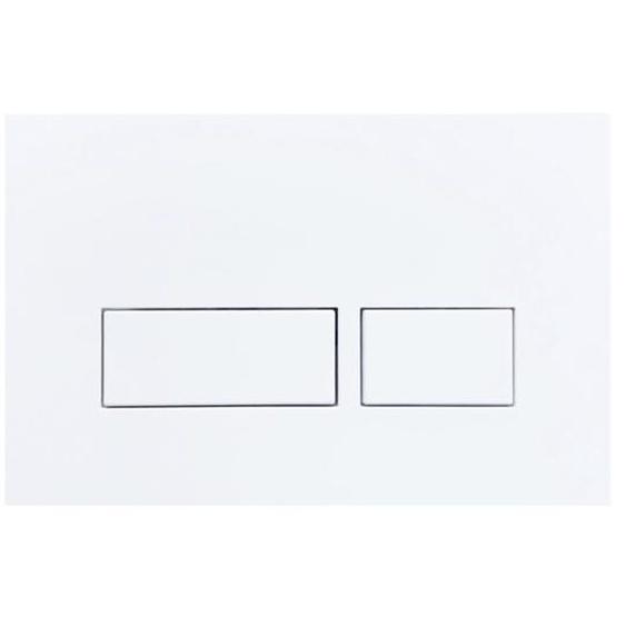 Royal Plaza Cabo Bouton de commande WC 23.6x15.2cm rectangulaire Blanc mat