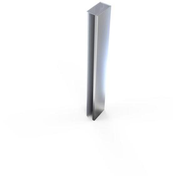 Royal Plaza Guard Profilé pour niche et porte pivotante avec 2x paroi fixe Chrome
