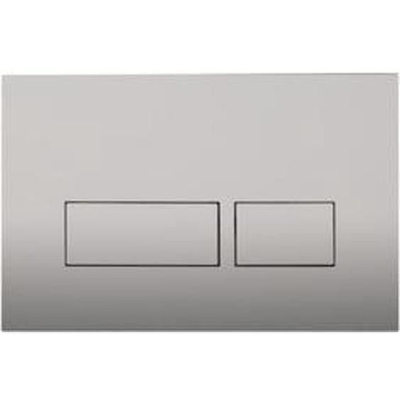 Royal Plaza Inala Plaque de commande WC boutons rectangulaires Argent 38161