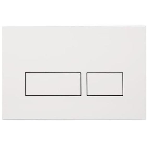 Royal Plaza Inala Plaque de commande WC boutons rectangulaires Blanc 37868