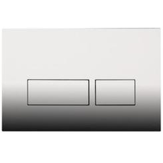 Royal Plaza Inala Plaque de commande WC boutons rectangulaires Chrome brillant 38134