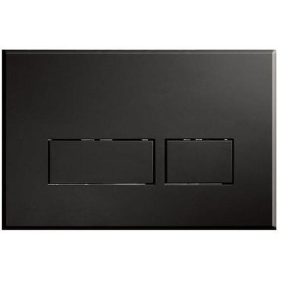 Royal Plaza Inala Plaque de commande WC boutons rectangulaires Noir mat 37869