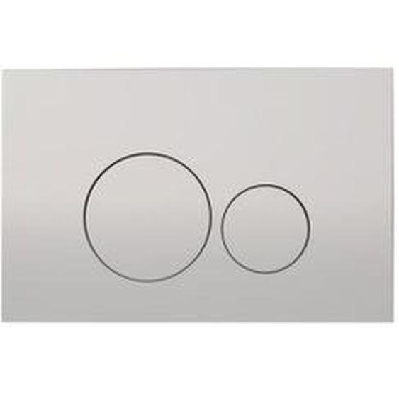 Royal Plaza Inala Plaque de commande WC boutons ronds argent 37387