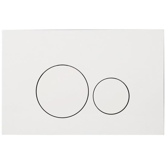 Royal Plaza Inala Plaque de commande WC boutons ronds blanc 36790