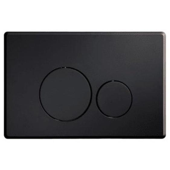 Royal Plaza Inala Plaque de commande WC boutons ronds noir mat 36792
