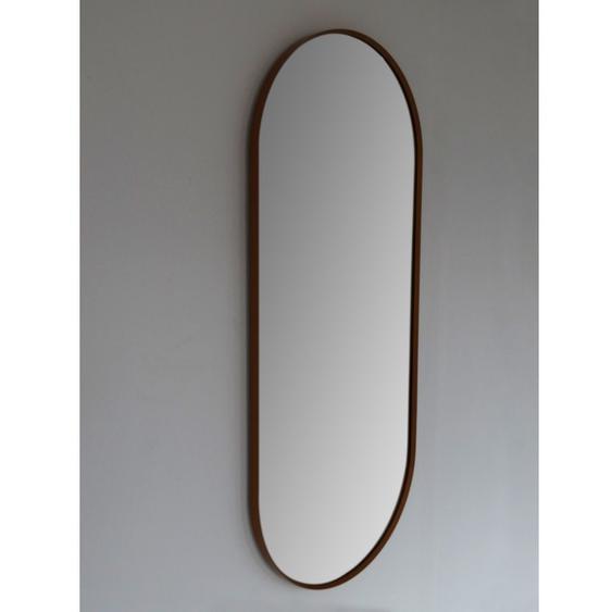 Royal Plaza Intent Miroir ovale avec cadre 90x38cm noir mat