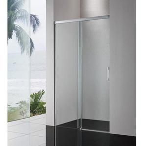 Royal Plaza Sway Porte coulissante 120x200cm profilé chrome et verre clair Clean Coating 21767