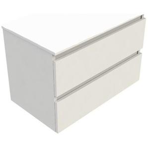 Royal Plaza Talisa meuble sous lavabo 80x46cm 2 tiroirs blanc laqué 83523