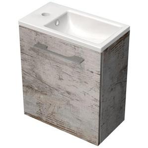 Royal Plaza Timothy Meuble lave mains 40x22cm porte gauche avec lave mains vintage 68273