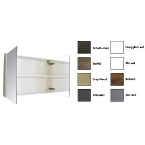 Sanicare Qlassics Armoire miroir 120x60x15cm avec 2 portes miroir deux côtés Blanc satin 29.41120Q