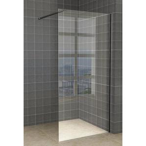 Saniclass Bellini Douche à litalienne 50x200cm avec verre clair 8mm et barre de renfort en profilé noir