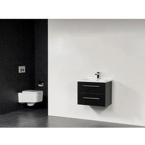 Saniclass Bologna meuble 60cm avec deux tiroirs Black Diamond SW18102