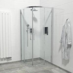 Saniclass Boutry Quick Fit Cabine de douche quart de rond 90x90x195cm verre clair anti-calcaire chrome SAQ2142-90