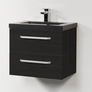 Saniclass Corestone 13 Set de meubles 80cm 1 trou pour robinetterie Black Wood S060225