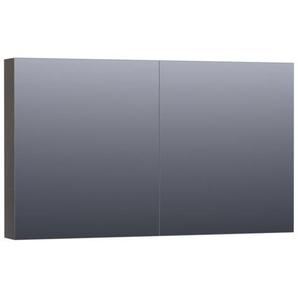 Saniclass Dual Armoire de toilette 119x70x15cm 2 portes pivotantes MDF Noir brillant 7413